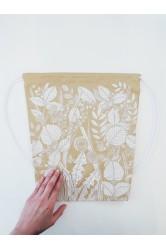 Batoh HUHŮ #zlatý, rostliny