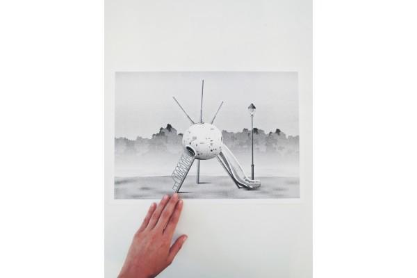 Plakát Sputnik, Jan Šrámek