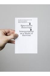 Speculative Ruinology / Interpretation as a mode of Survival – Václav Janoščík, Boris Ondreička (eds.)