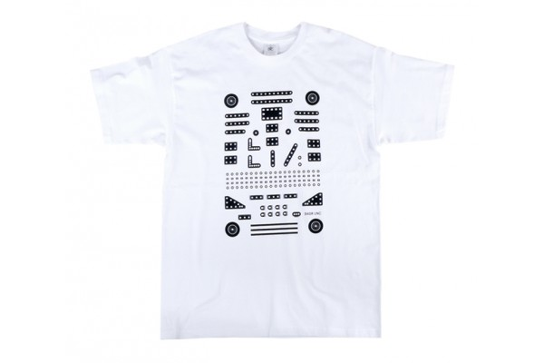 Tričko MERKUR pánské, černobílé, L
