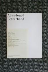 Abandoned Letterhead