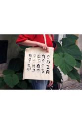 Taška ArtMap s portréty umělců