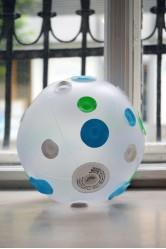 Nafukovací hračka – Míč s puntíky, zeleno-modro-bílý – Fatra