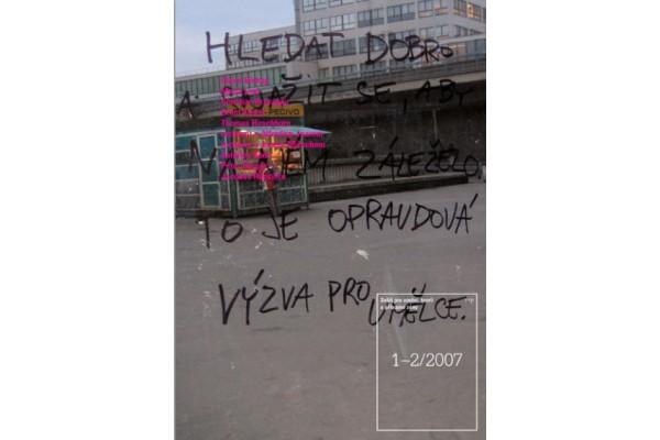 Sešit pro umění, teorii a příbuzné zóny. 1-2/2007