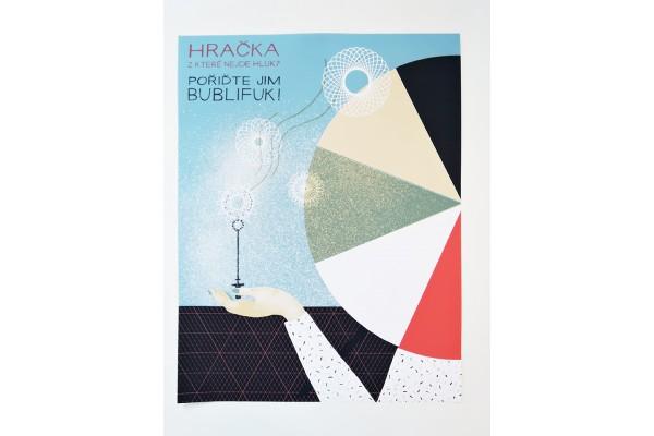 Plakát Běžíliška – Hračka z které nejde hluk? B2