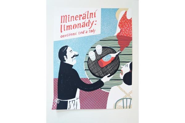 Plakát Běžíliška – Minerální limonády, B2